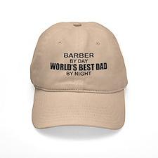World's Best Dad - Barber Baseball Cap