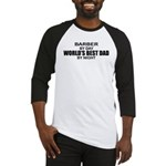 World's Best Dad - Barber Baseball Jersey