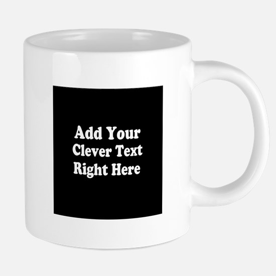 Add Text Background Black W 20 oz Ceramic Mega Mug