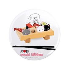 "sushi kitten 3.5"" Button"