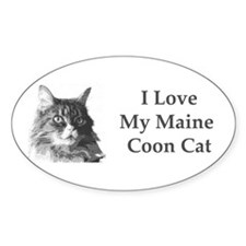 I Love My Maine Coon<br>Oval Decal