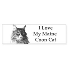I Love My Maine Coon<br>Bumper Bumper Sticker