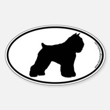 Bouvier SILHOUETTE Oval Decal