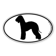 Bedlington Terrier SILHOUETTE Oval Decal