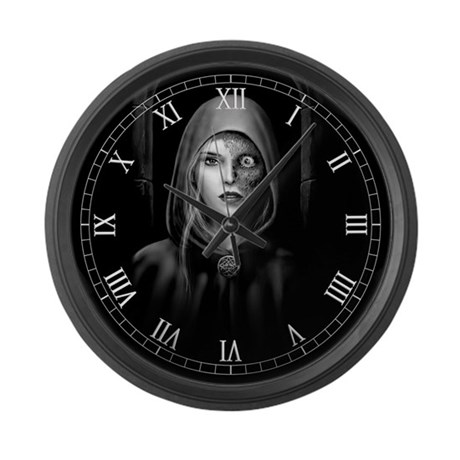 Half Dead Hel Large Wall Clock