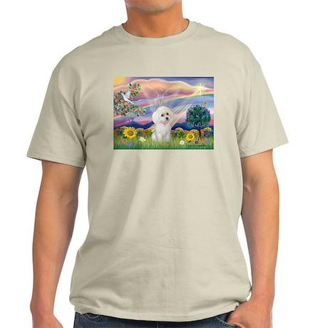 Cloud Angel & White Poodle Light T-Shirt