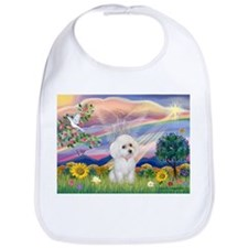 Cloud Angel & White Poodle Bib