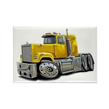 Mack Superliner Yellow Truck Rectangle Magnet