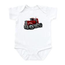 Mack Superliner Red Truck Infant Bodysuit