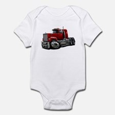 Mack Superliner Red Truck Infant Bodysuit