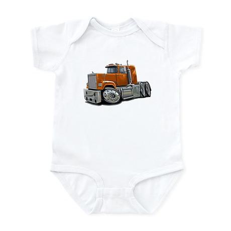 Mack Superliner Orange Truck Infant Bodysuit