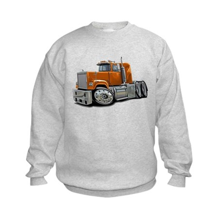 Mack Superliner Orange Truck Kids Sweatshirt
