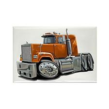 Mack Superliner Orange Truck Rectangle Magnet