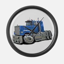 Mack Superliner Lt Blue Truck Large Wall Clock