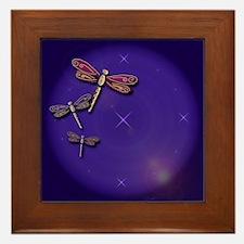 Starry Skies Dragonflies Framed Tile