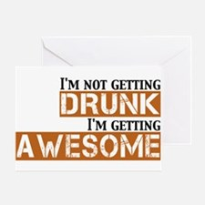 Drunk Awesome Greeting Card