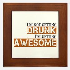 Drunk Awesome Framed Tile