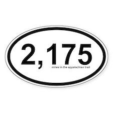 2175 - Appalachian Trail Miles Decal