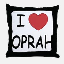 I heart Oprah Throw Pillow