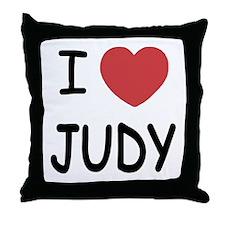 I heart Judy Throw Pillow