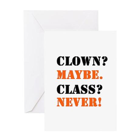 Clown? 4 Greeting Card