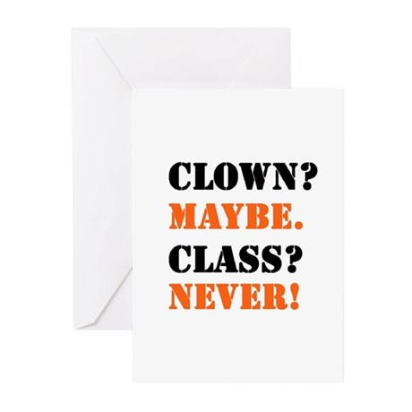 Clown? 4 Greeting Cards (Pk of 10)