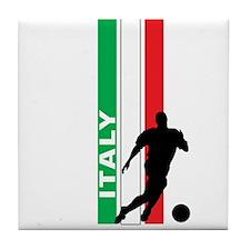 ITALY FUTBOL 3 Tile Coaster