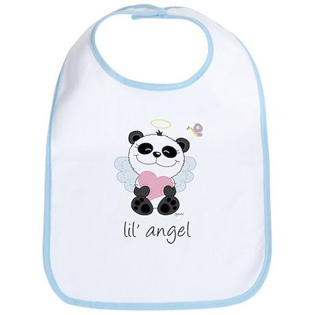 lil' pink panda angel Bib