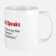"""""""Broughtupsy"""" Mug"""