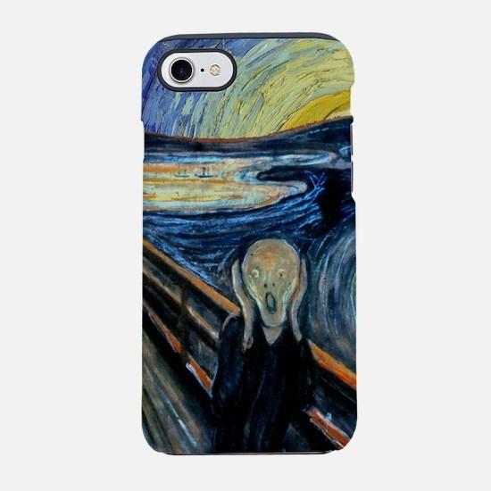 Scream on a Starry Night iPhone 7 Tough Case