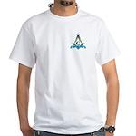 Masonic Faith, Hope, Charity White T-Shirt