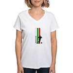 MEXICO FUTBOL 3 Women's V-Neck T-Shirt
