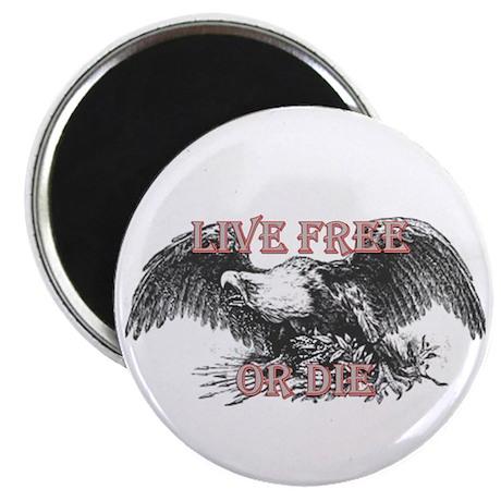 """LIVE FREE OR DIE 2.25"""" Magnet (10 pack)"""