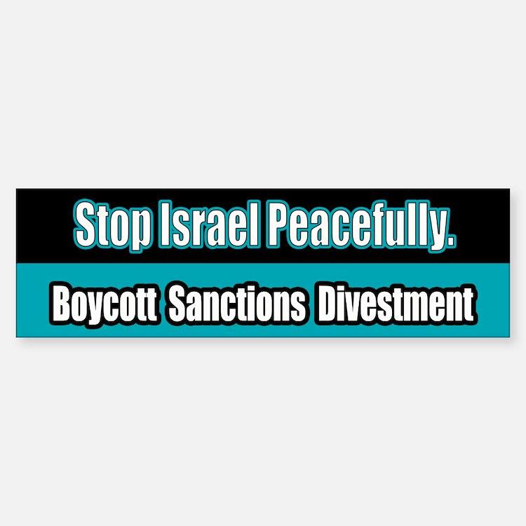 Israel Boycott Sanctions Divestment Bumper Bumper Bumper Sticker