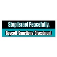 Israel Boycott Sanctions Divestment Bumper Car Sticker
