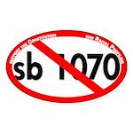 Red Slash Through SB 1070 Bumper Sticker