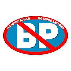 No More Spills. No BP Bumper Sticker