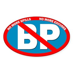 No More Spills. No BP Bumper Decal