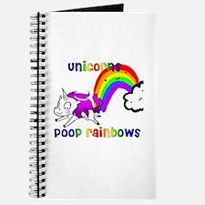 Cute Unicorn pooping rainbow Journal