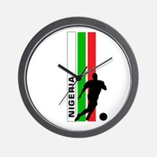 NIGERIA FOOTBALL 3 Wall Clock
