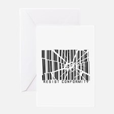 Resist Conformity Greeting Card