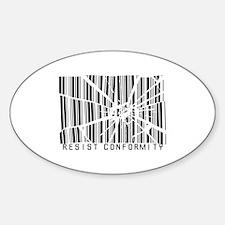 Resist Conformity Sticker (Oval)