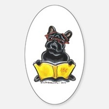 Frenchie Bookworm Decal