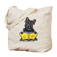 Frenchie Bookworm Tote Bag
