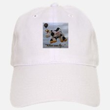 When Cows Fly Baseball Baseball Cap