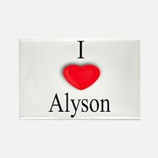 Alyson Rectangle Magnet