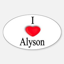 Alyson Oval Decal