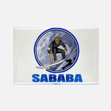 Sababa Hebrew Rectangle Magnet