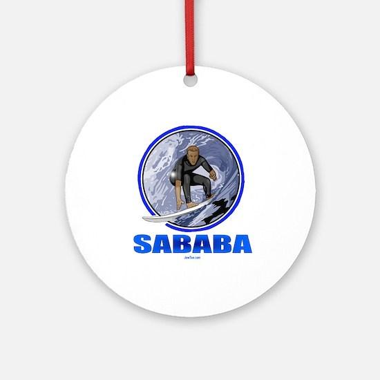 Sababa Hebrew Ornament (Round)
