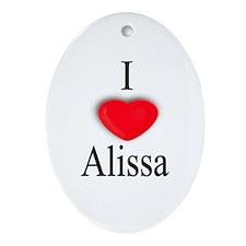 Alissa Oval Ornament